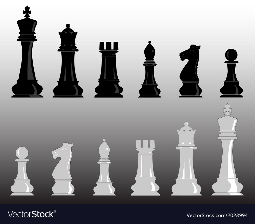 White and black chess vector | Price: 1 Credit (USD $1)