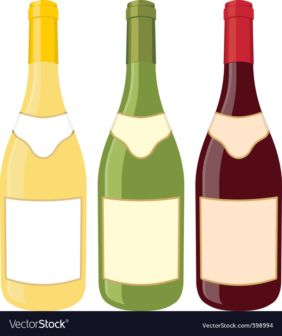 Wine bottles vector | Price: 1 Credit (USD $1)