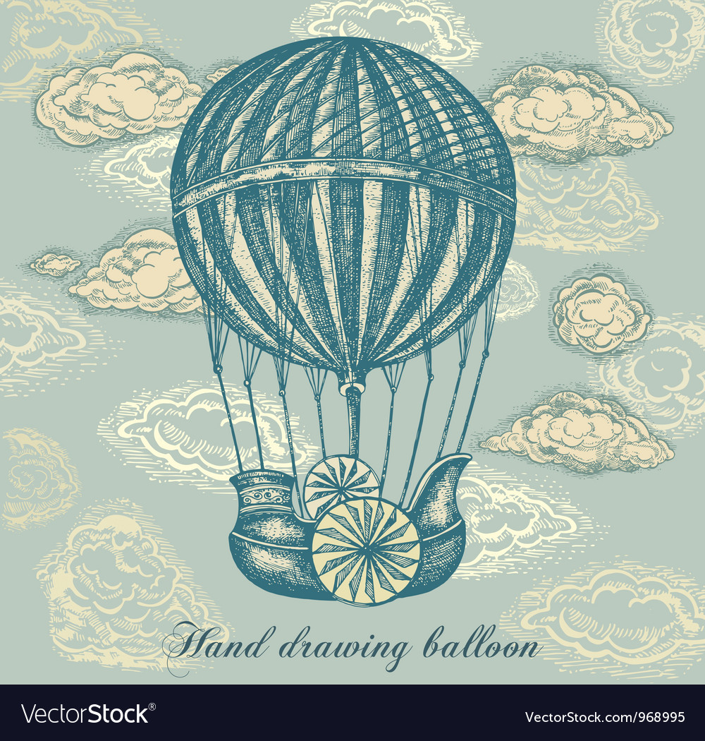 Balloon transport background vector