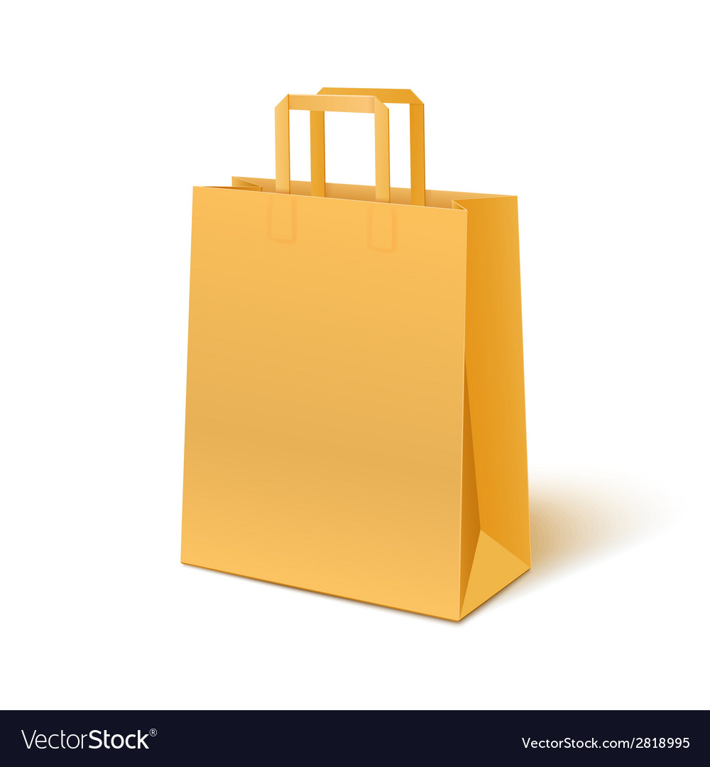 Blank paper bag isolated on white background vector | Price: 1 Credit (USD $1)