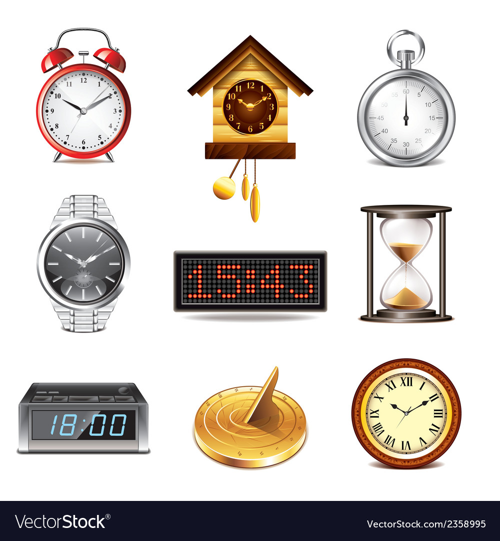 Set clock vector | Price: 3 Credit (USD $3)