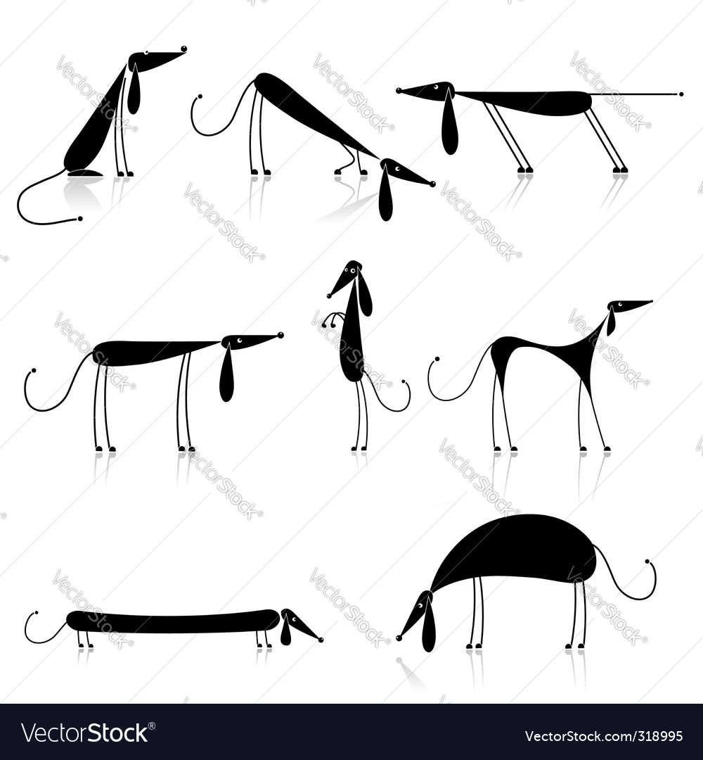 Slick dog vector | Price: 1 Credit (USD $1)