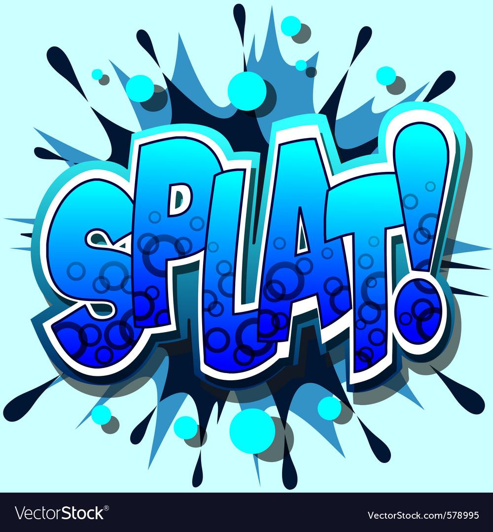 Splat vector | Price: 1 Credit (USD $1)