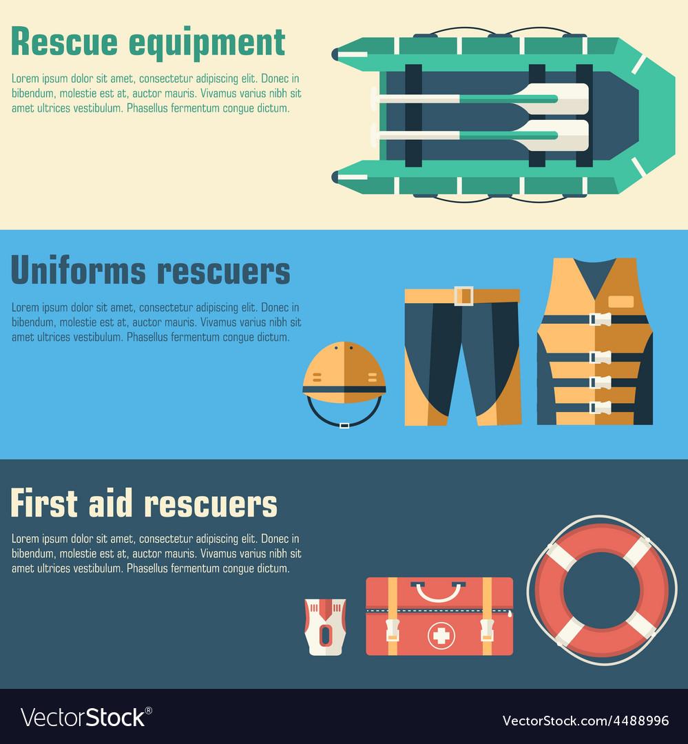Emergency service paramedic lifeguard equipment vector   Price: 1 Credit (USD $1)