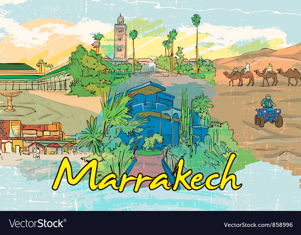 Marrakech doodles vector | Price: 3 Credit (USD $3)