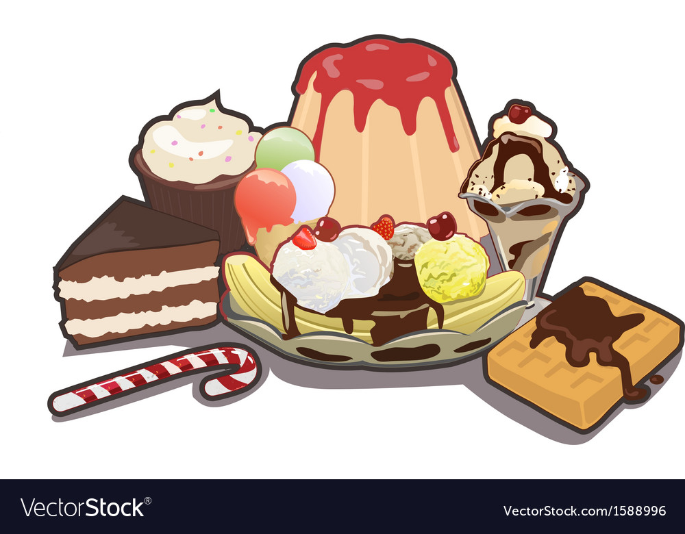 Mixed sweets vector | Price: 1 Credit (USD $1)
