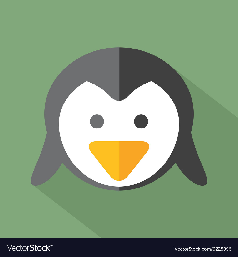 Modern flat design penguin icon vector | Price: 1 Credit (USD $1)