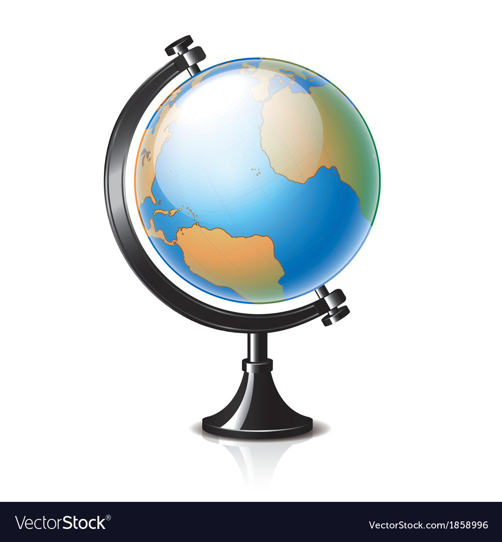 Object classic globe vector | Price: 1 Credit (USD $1)