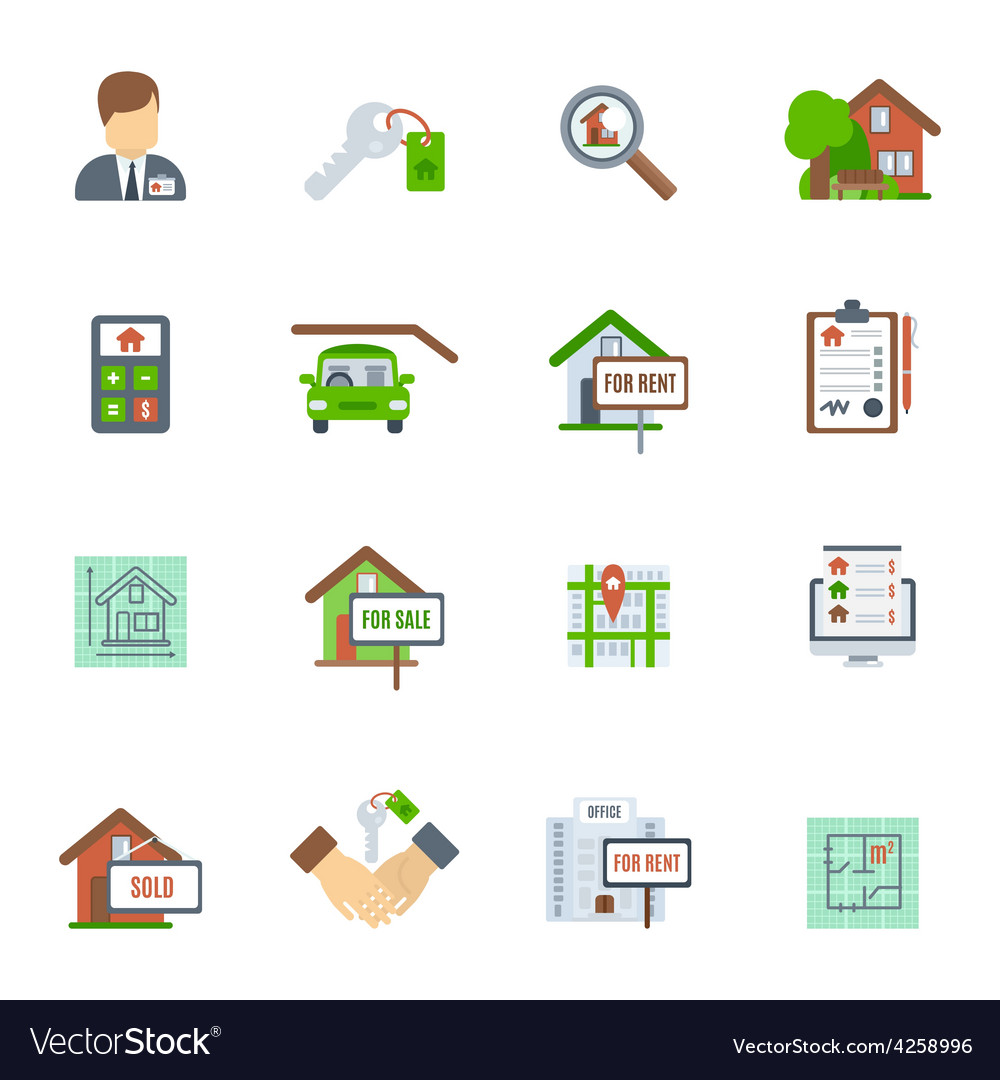 Real estate flat icon vector | Price: 1 Credit (USD $1)