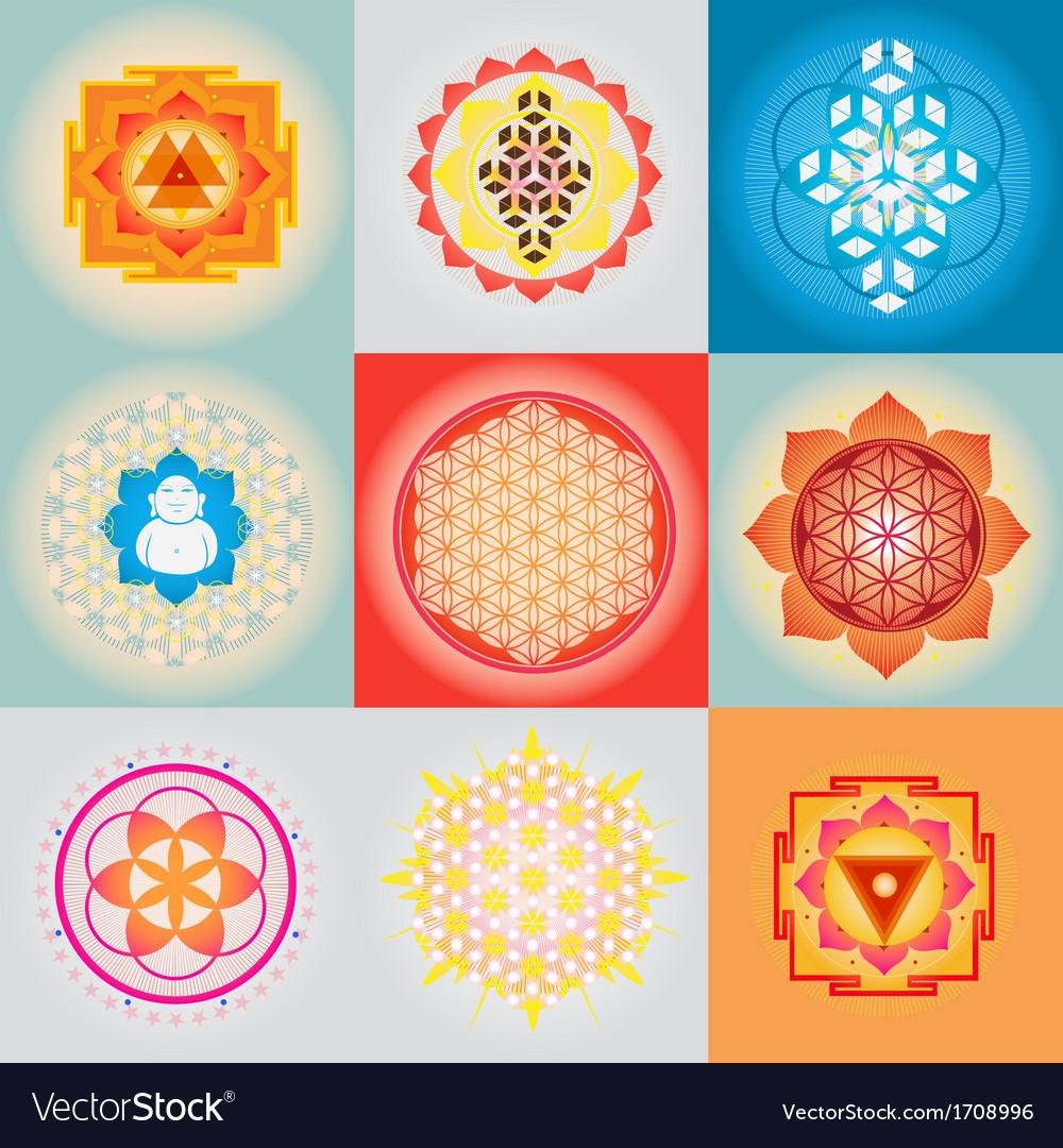 Sacred geometry set vector | Price: 1 Credit (USD $1)