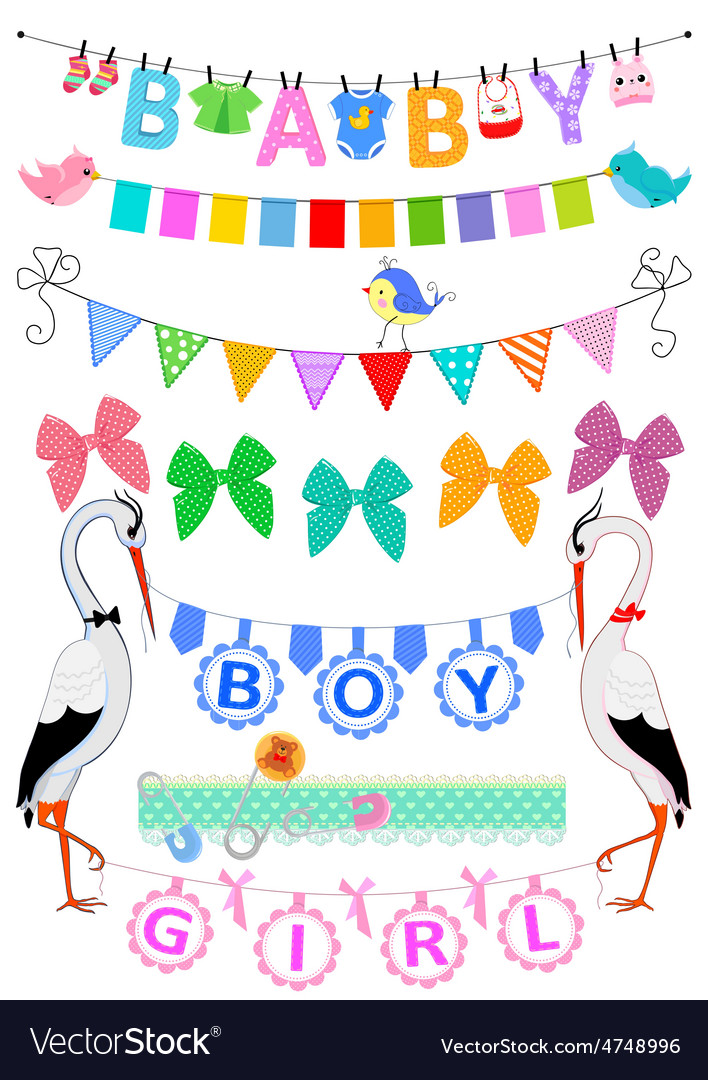 Set baby bunting vector | Price: 1 Credit (USD $1)
