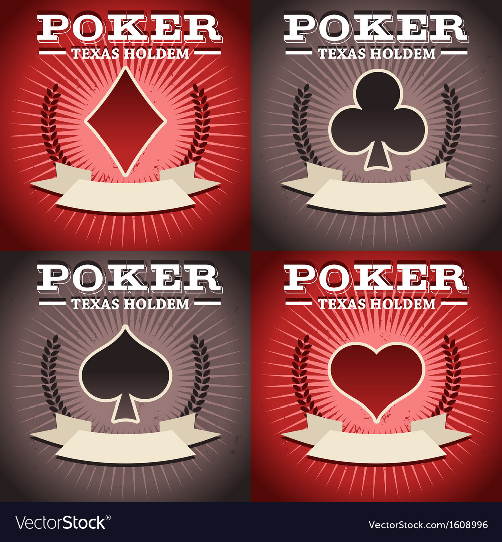 Set of poker backgrounds vector | Price: 1 Credit (USD $1)