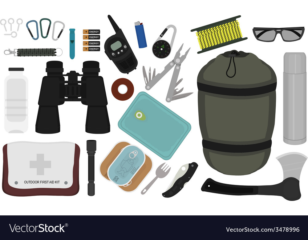 Survival set no outlines vector | Price: 1 Credit (USD $1)