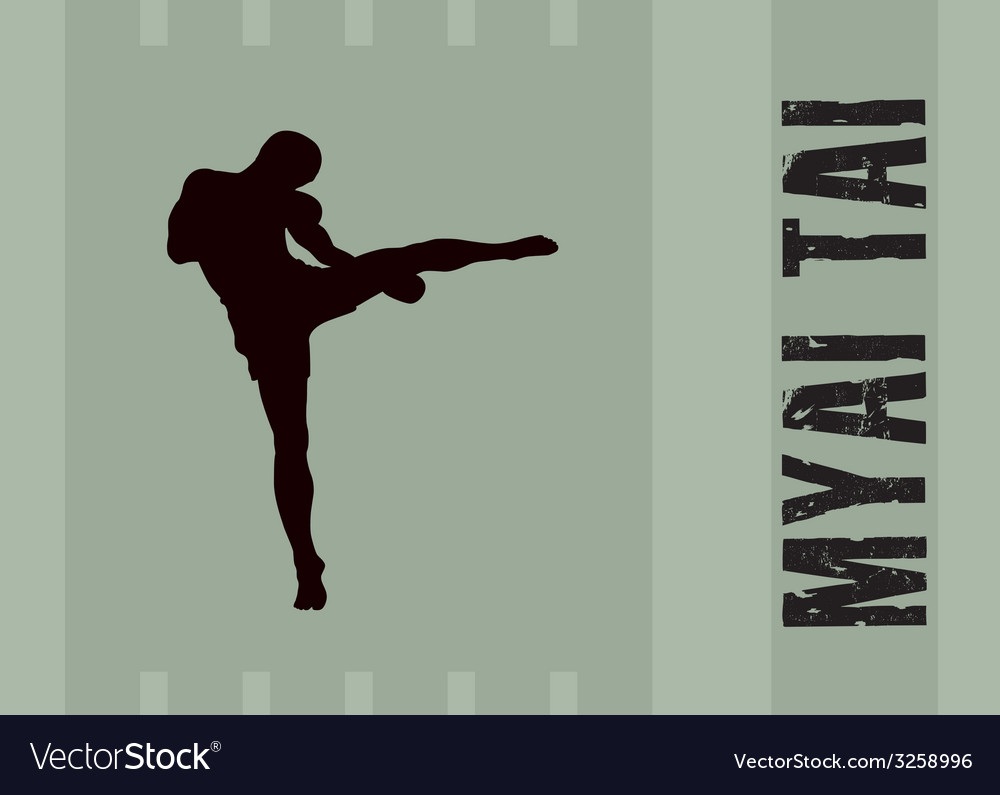 The the man is engaged in myai tai vector | Price: 1 Credit (USD $1)