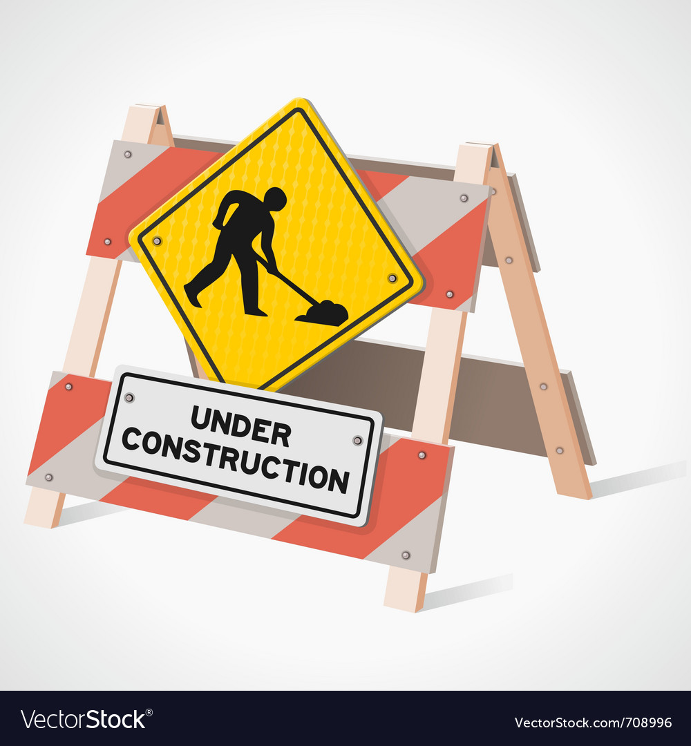 Under construction road sign vector | Price: 3 Credit (USD $3)