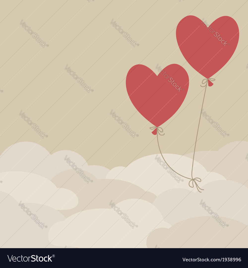 Valentine card template vector | Price: 1 Credit (USD $1)