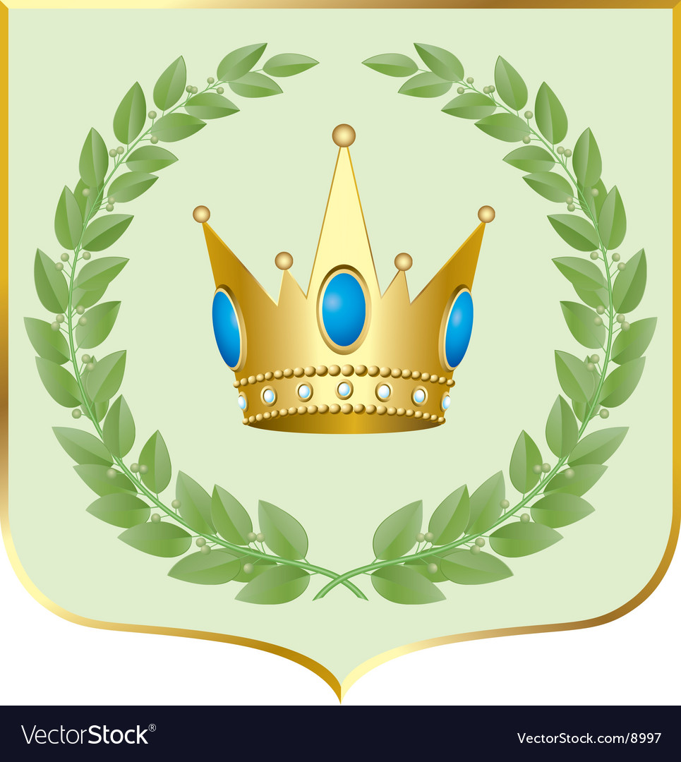 Crown symbol vector