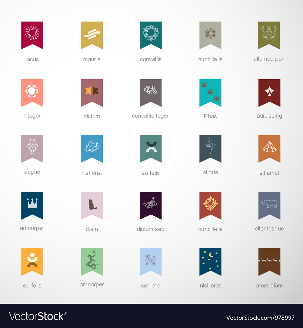Emblems and elements for design vector | Price: 1 Credit (USD $1)