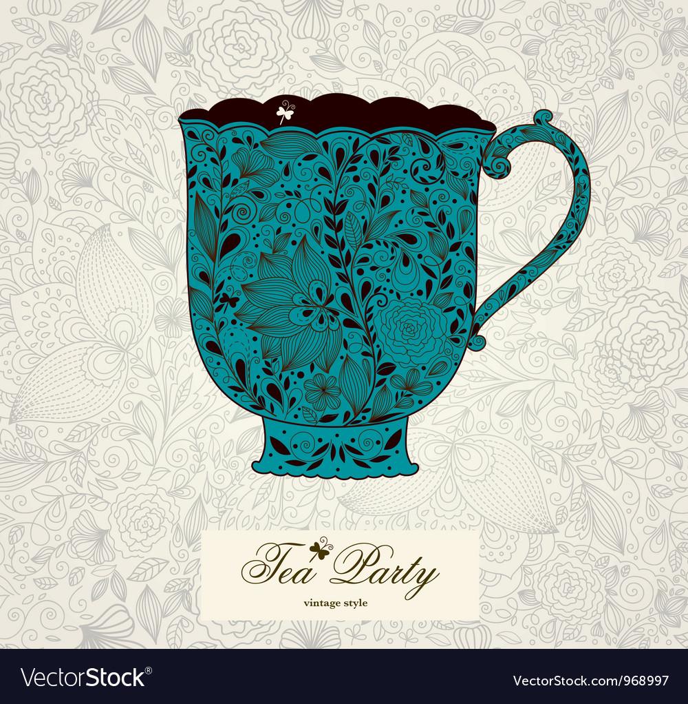 Fancy tea cups vector | Price: 1 Credit (USD $1)