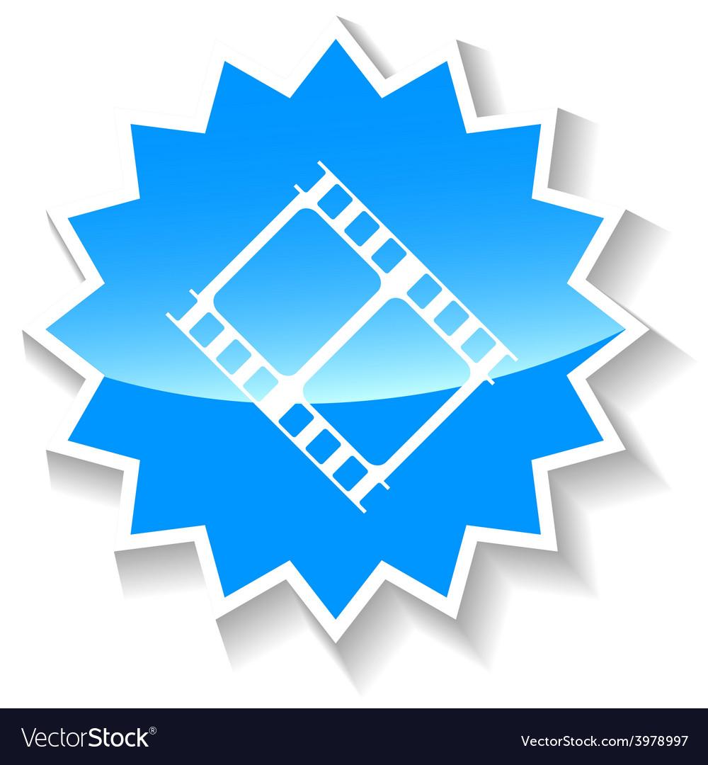 Film blue icon vector   Price: 1 Credit (USD $1)