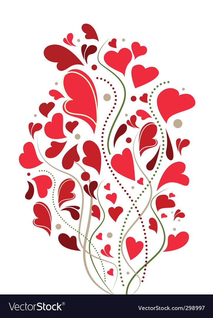 Love decoration vector | Price: 1 Credit (USD $1)