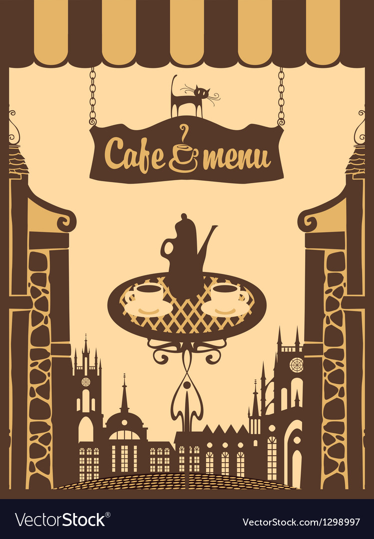 Menu for city cafe vector | Price: 1 Credit (USD $1)