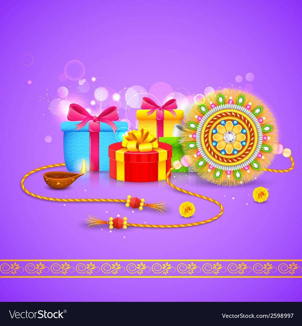 Raksha bandhan gift vector | Price: 1 Credit (USD $1)
