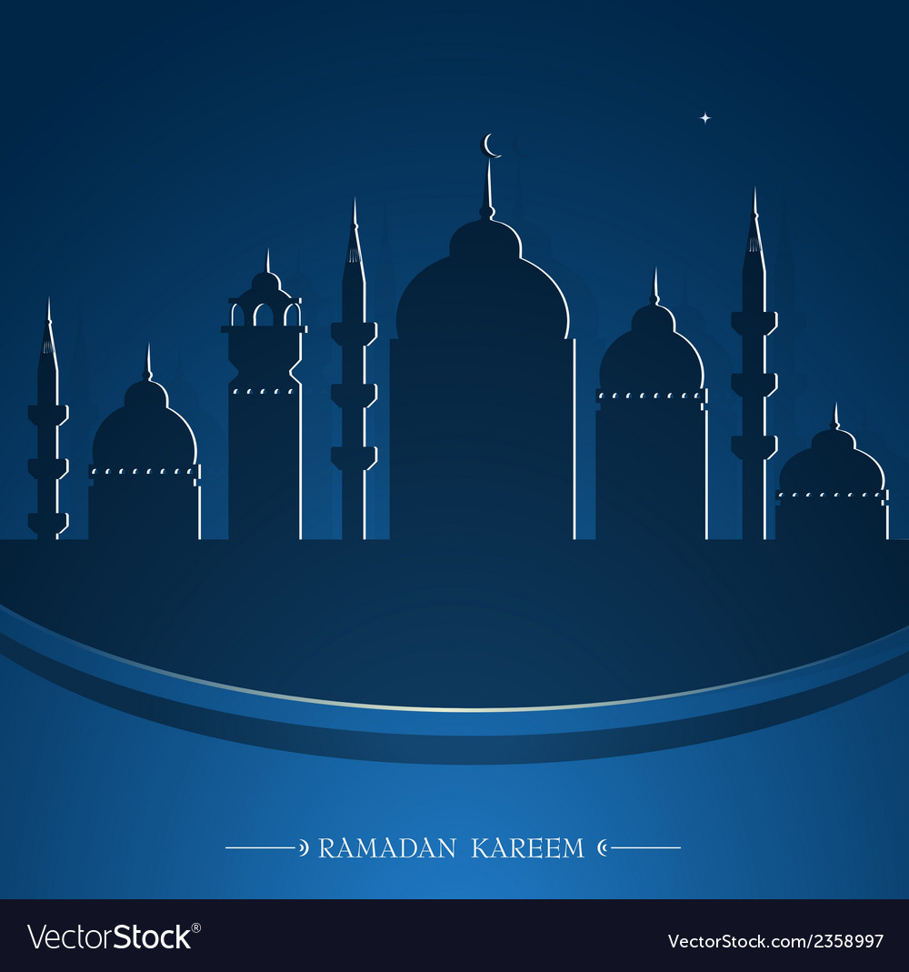 Ramadan greeting card design vector | Price: 1 Credit (USD $1)