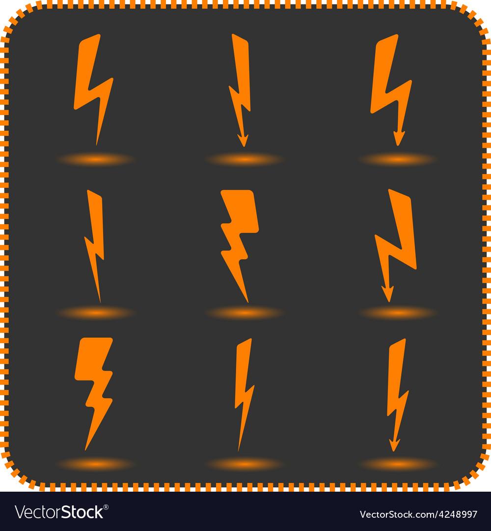 Set lightning vector | Price: 1 Credit (USD $1)