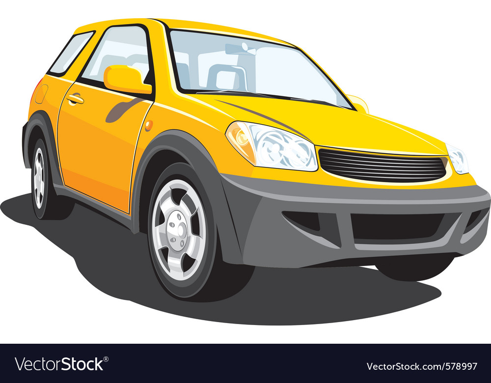 Yellow crossover vector | Price: 1 Credit (USD $1)