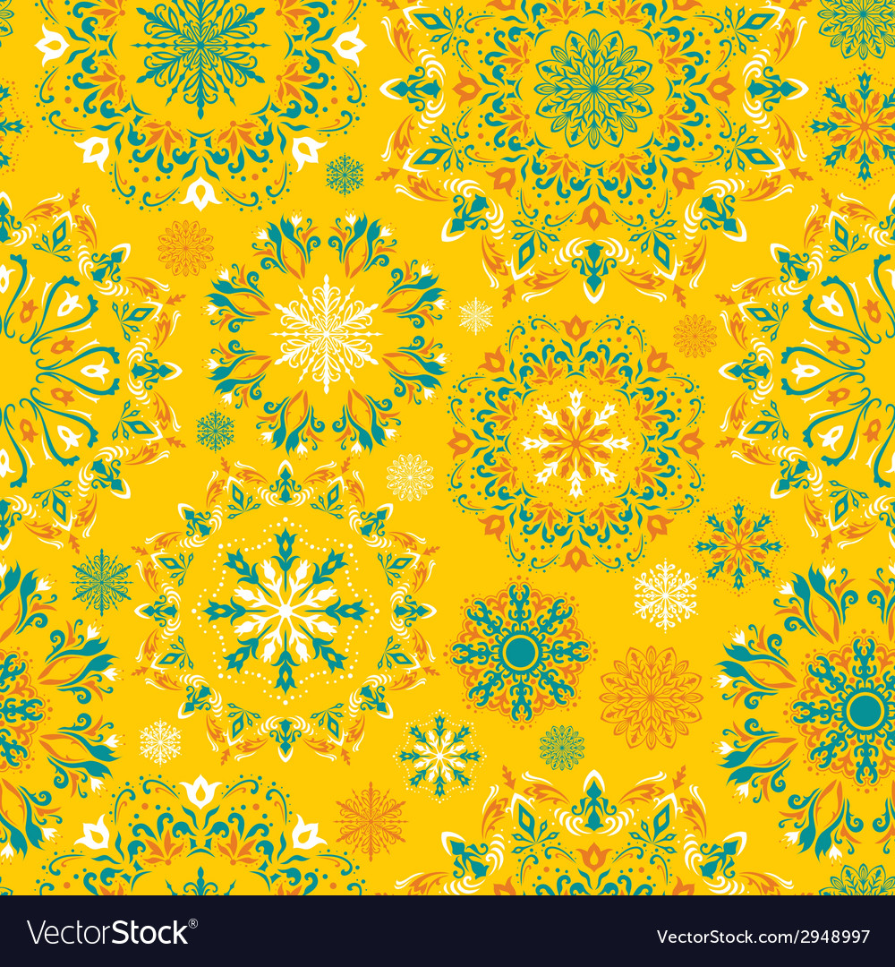 Yellow snow pattern vector | Price: 1 Credit (USD $1)