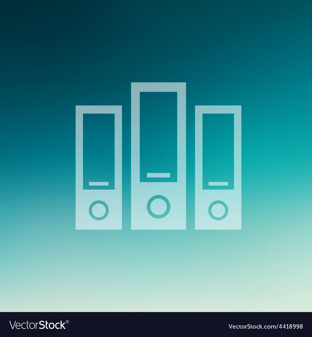 Binder in flat style icon vector | Price: 1 Credit (USD $1)