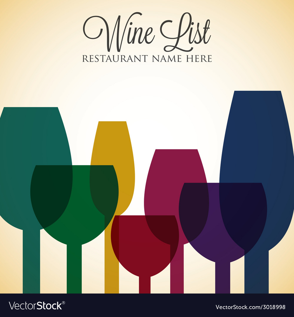 Bright wine list menu cover in format vector | Price: 1 Credit (USD $1)