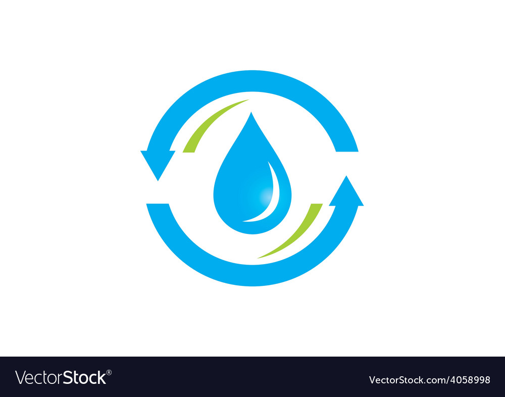 Clean water process abstract logo vector | Price: 1 Credit (USD $1)