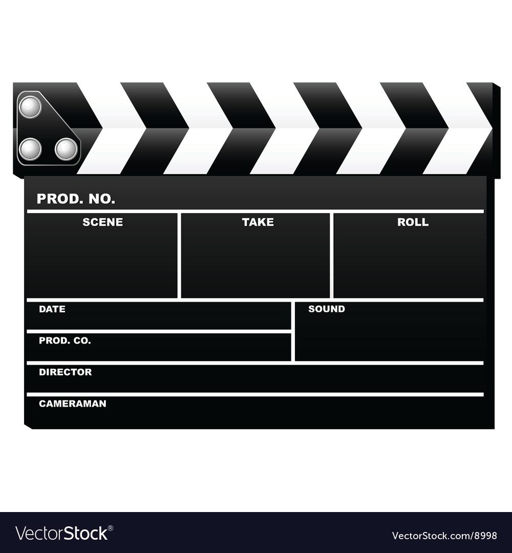 Closed clapboard vector | Price: 1 Credit (USD $1)
