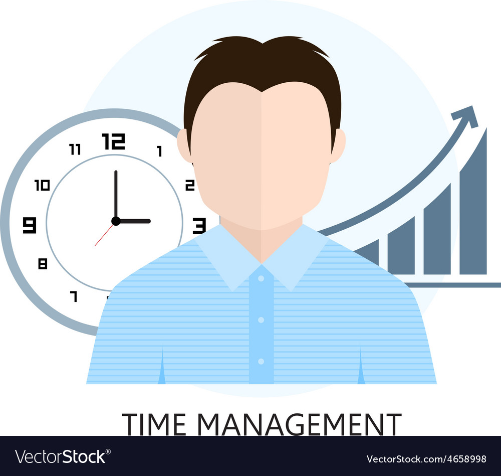 Flat design colorful concept for time management vector   Price: 1 Credit (USD $1)
