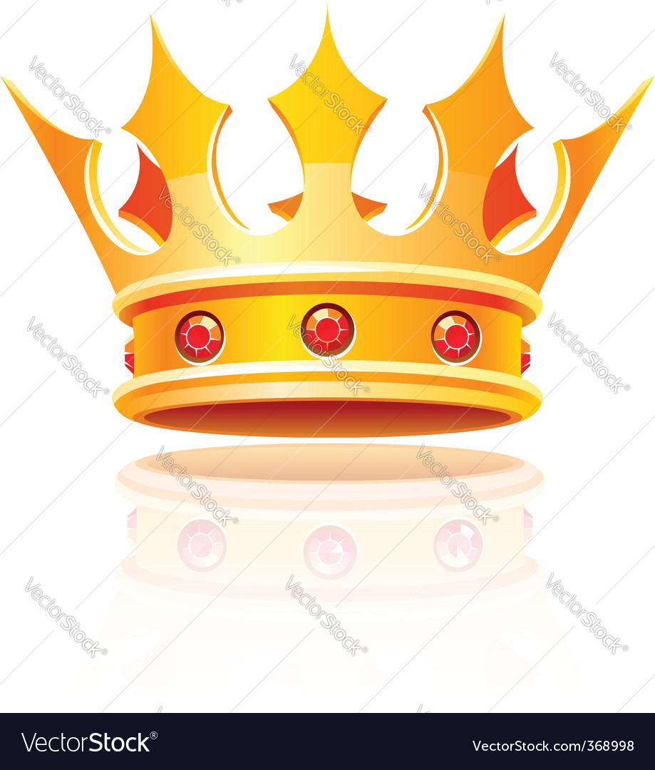 Gold royal crown vector | Price: 1 Credit (USD $1)