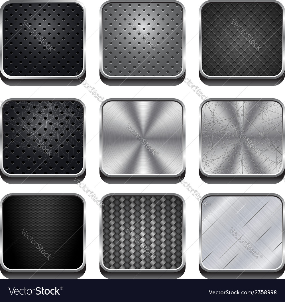 Metal app icons vector | Price: 1 Credit (USD $1)