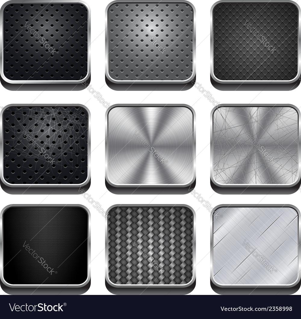 Metal app icons vector | Price: 1 Credit (USD $1)