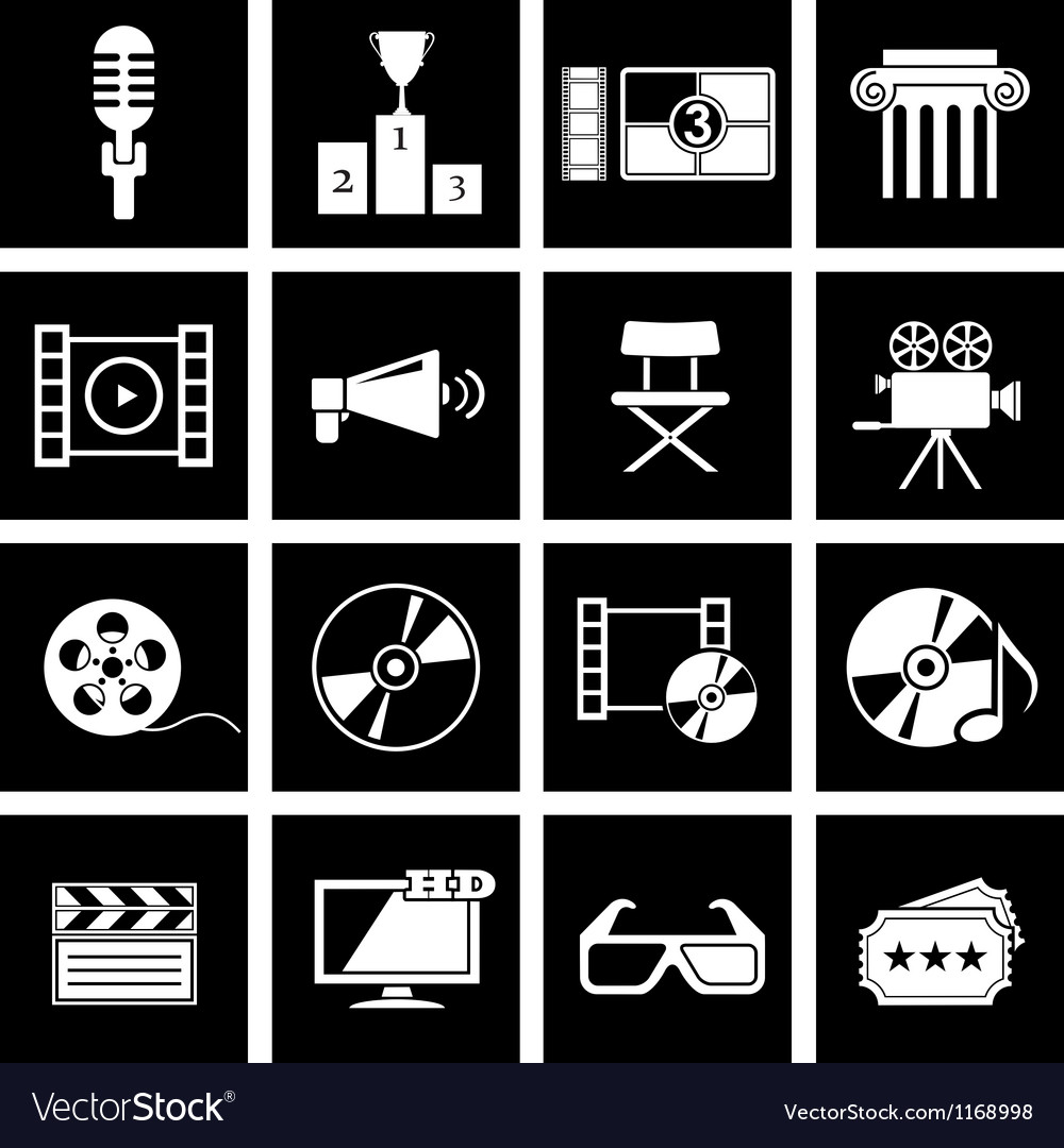Movie icon vector | Price: 1 Credit (USD $1)