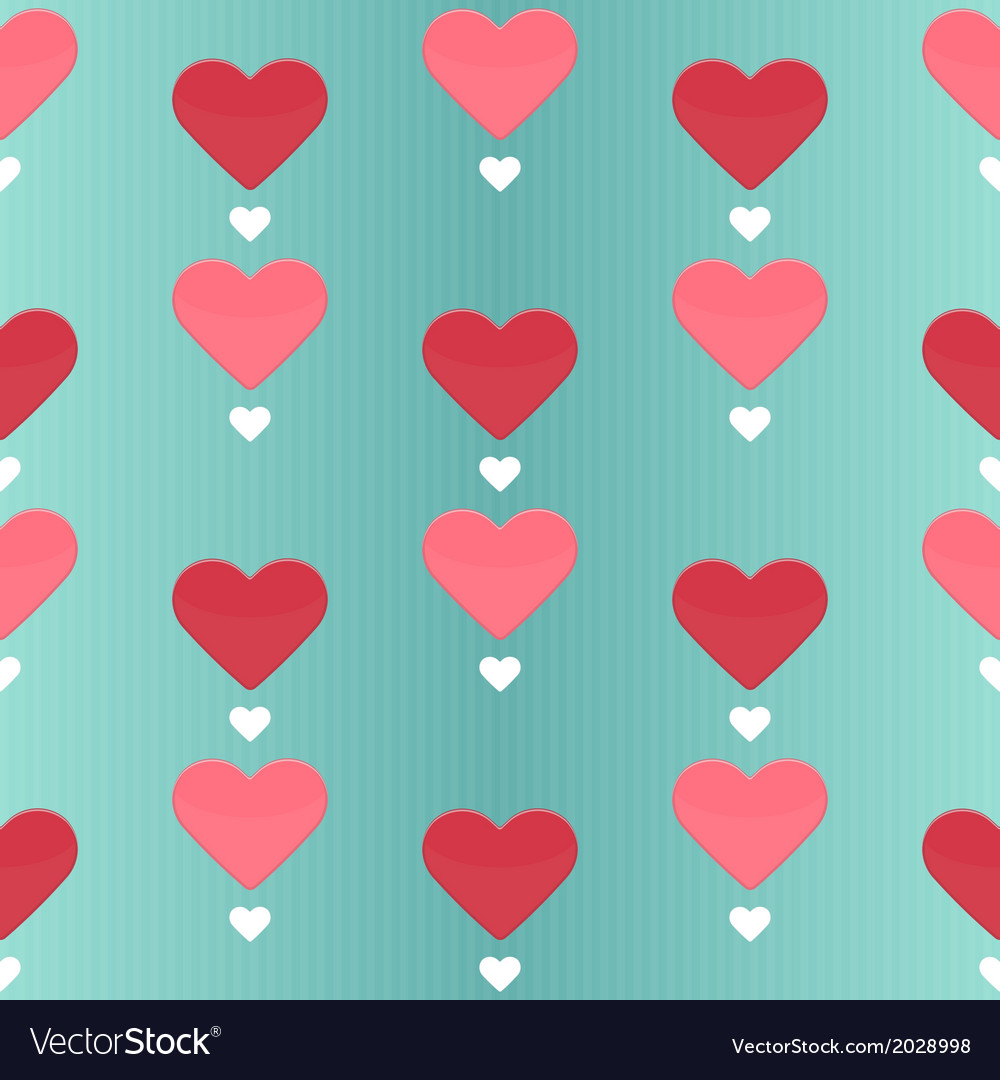 Seamless pattern with many sweet hearts vector | Price: 1 Credit (USD $1)
