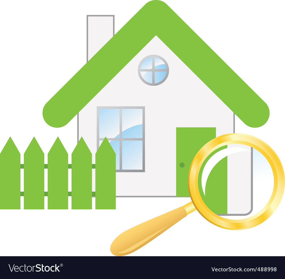 Searching a house vector | Price: 1 Credit (USD $1)