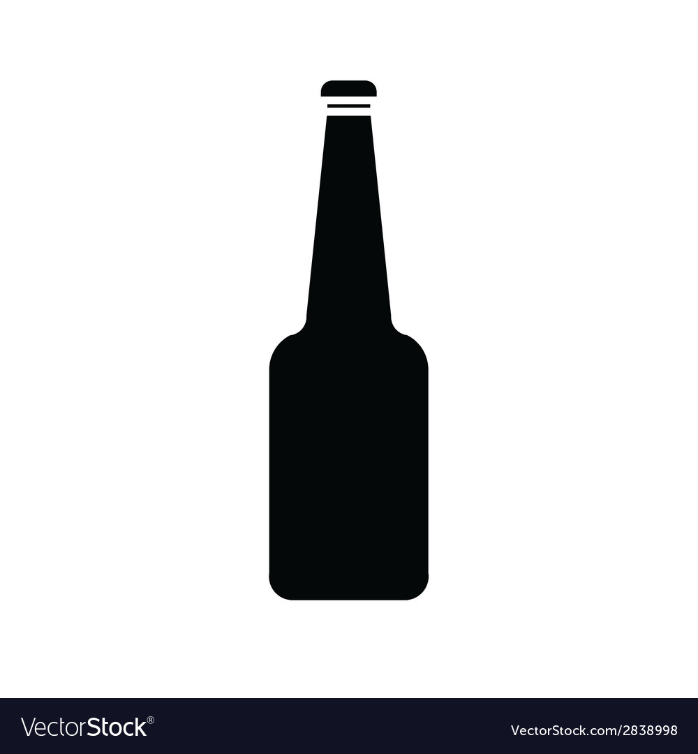 Silhouette of glass bottle vector | Price: 1 Credit (USD $1)