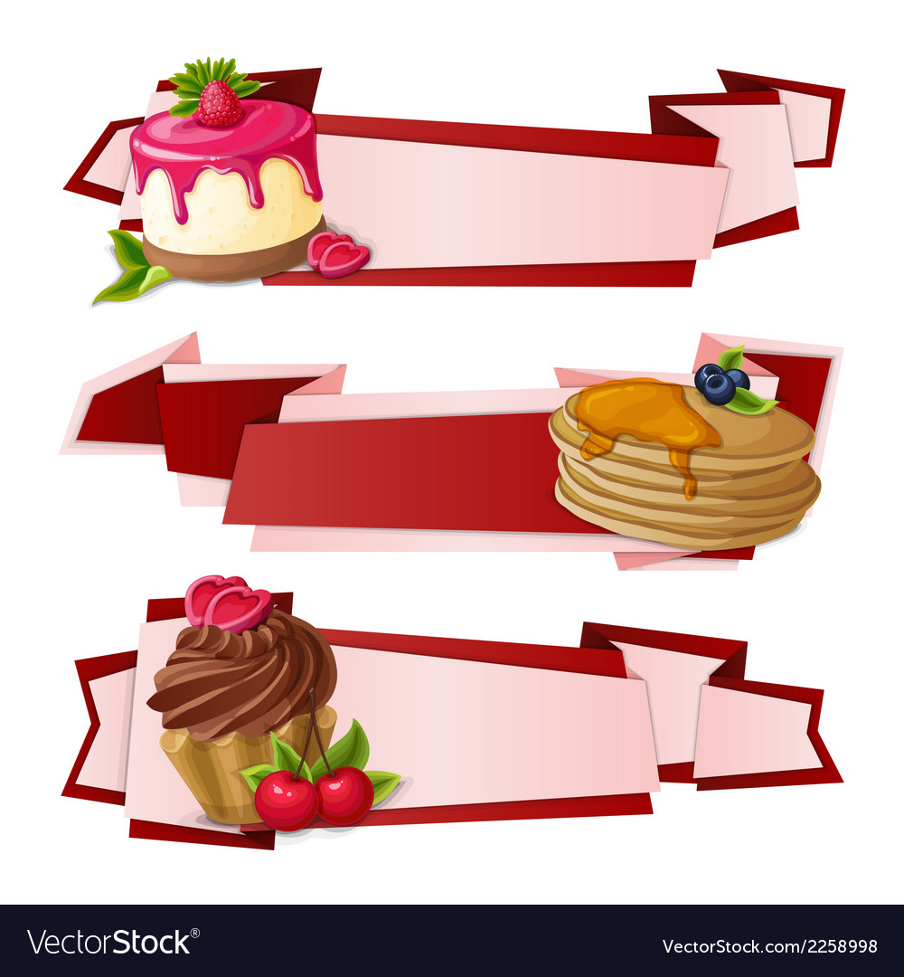Sweets paper banners vector | Price: 1 Credit (USD $1)