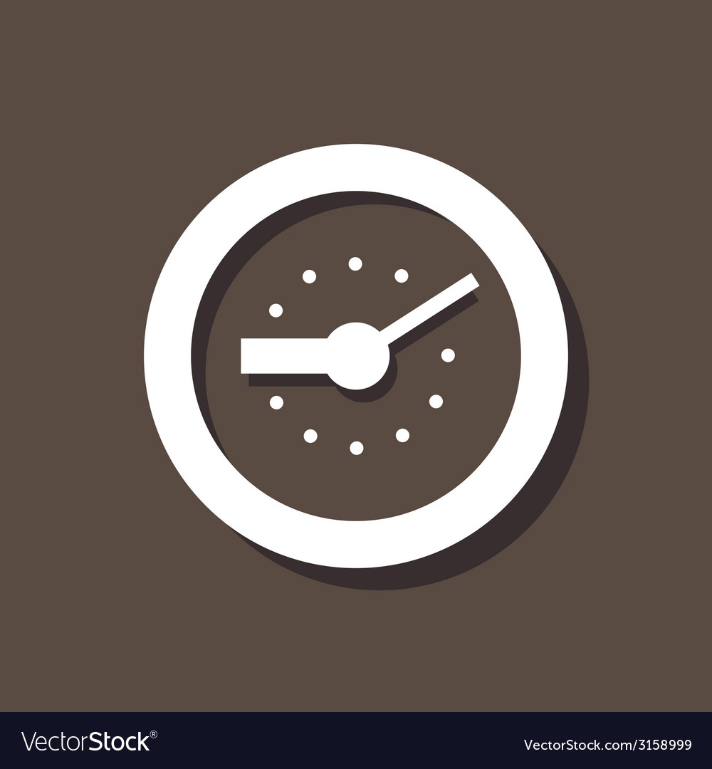 Clock icon on dark background vector | Price: 1 Credit (USD $1)