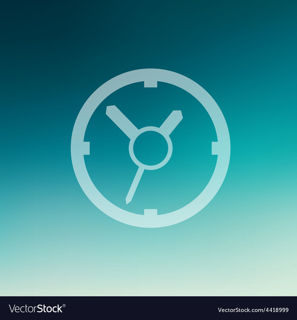 Clock in flat style icon vector | Price: 1 Credit (USD $1)