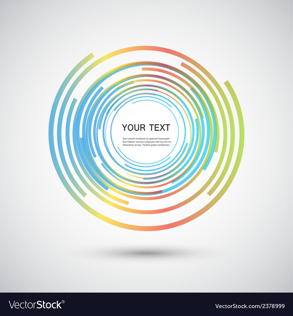 Color line twirl design vector | Price: 1 Credit (USD $1)