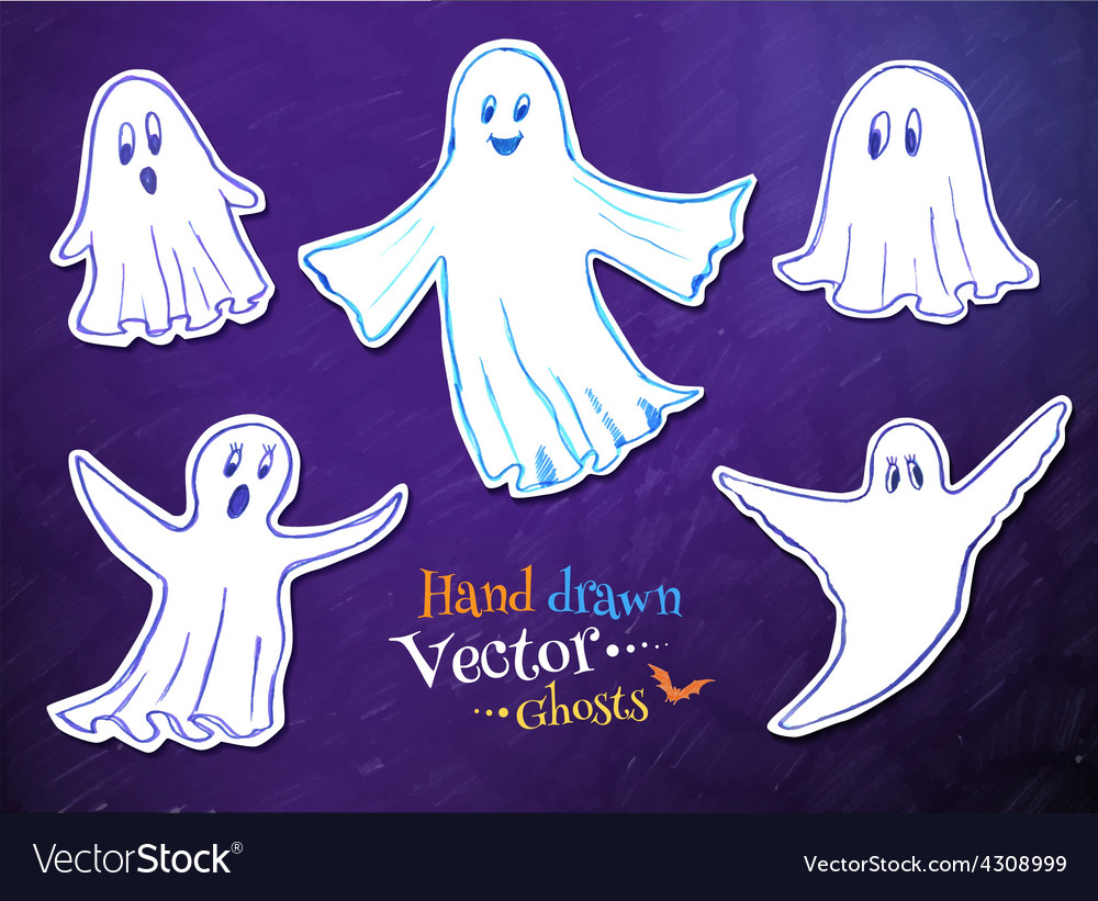 Cute ghosts vector | Price: 1 Credit (USD $1)