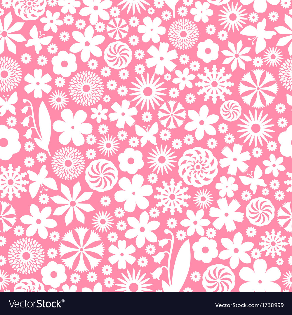 Flower white pattern vector | Price: 1 Credit (USD $1)