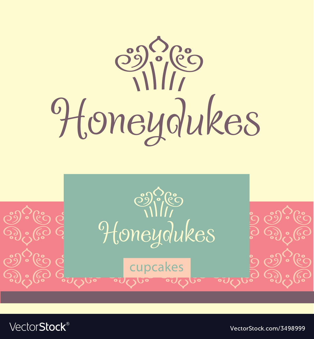 Logo for confectionery making cupcakes vector | Price: 1 Credit (USD $1)